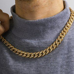 Men's Iced Out Gold Miami Necklace Chain